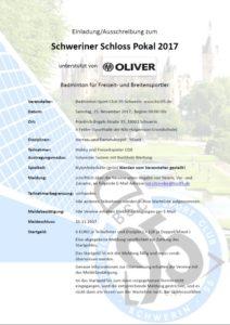 Ausschreibung zum Schweriner Schlosspokal 2017 ist raus