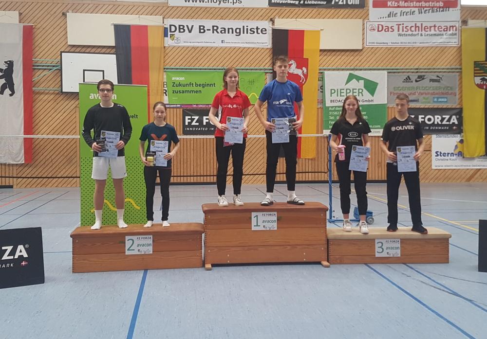 1.Norddeutschen Rangliste  U17/19 in Liebenau 2020 - Platz 2 für Luca Wiechmann und Marleen Schwabe