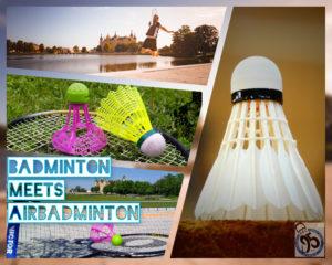 Badminton meets AirBadminton auf der Schwimmenden Wiese am Schlosspark